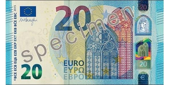 Naujas 20eur banknotas (kupiūra)