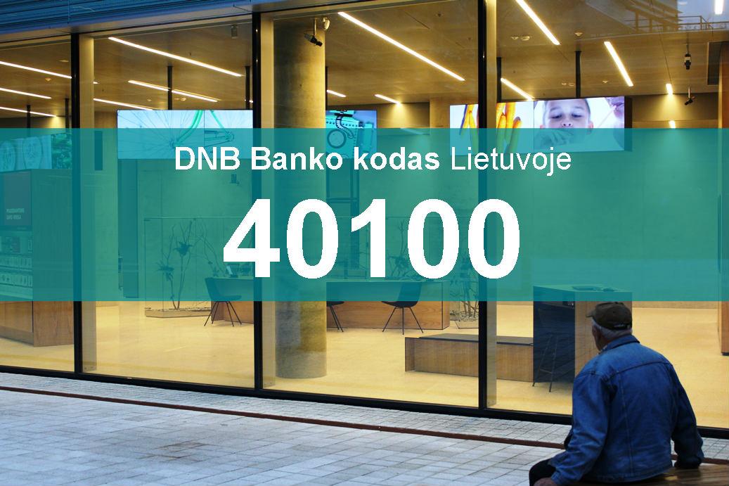 DNB banko kodas - 40100